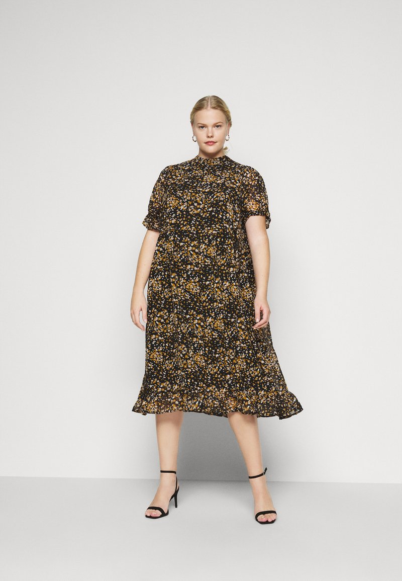 Selected Femme Curve - SLFLINA DRESS CURVE - Vapaa-ajan mekko - black