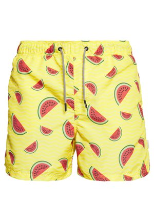 JJIARUBA JJSWIMSHORTS FRUITS - Swimming shorts - golden haze