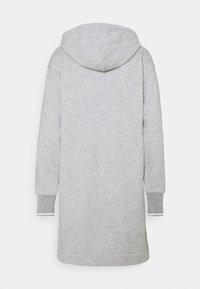 GANT - GRAPHIC HOODIE DRESS - Vestido informal - light grey melange - 1