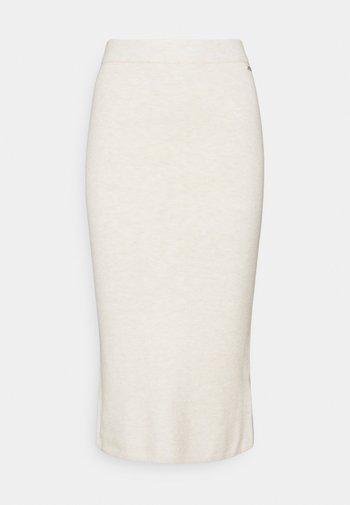 KAIA MIDI SKIRT - Pencil skirt - oatmeal heather