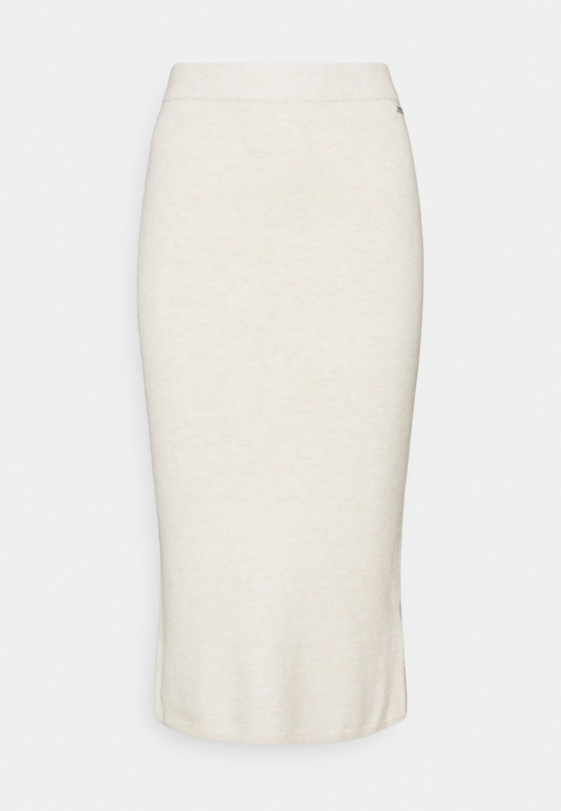 Guess - KAIA MIDI SKIRT - Bleistiftrock - oatmeal heather