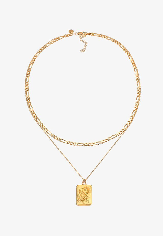 LAYER LOOK ROSE - Ketting - gold
