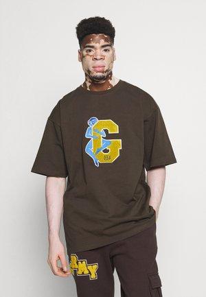 SINGGANG JUNCTION LOVE HEAVY WEIGHT TEE - T-shirt med print - brown
