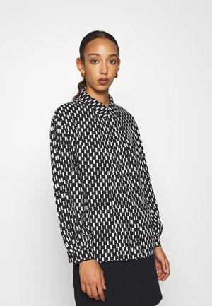 KEEVA - Button-down blouse - black