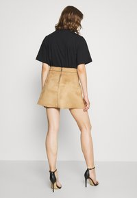 ONLY - ONLLINEA BONDED SKIRT  - A-line skirt - toasted coconut - 2
