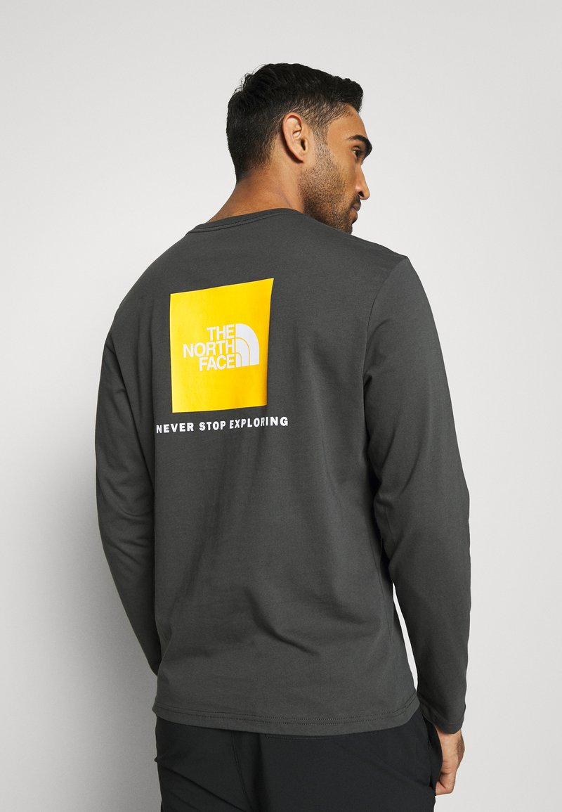The North Face - MENS BOX TEE - T-shirt à manches longues - anthracite