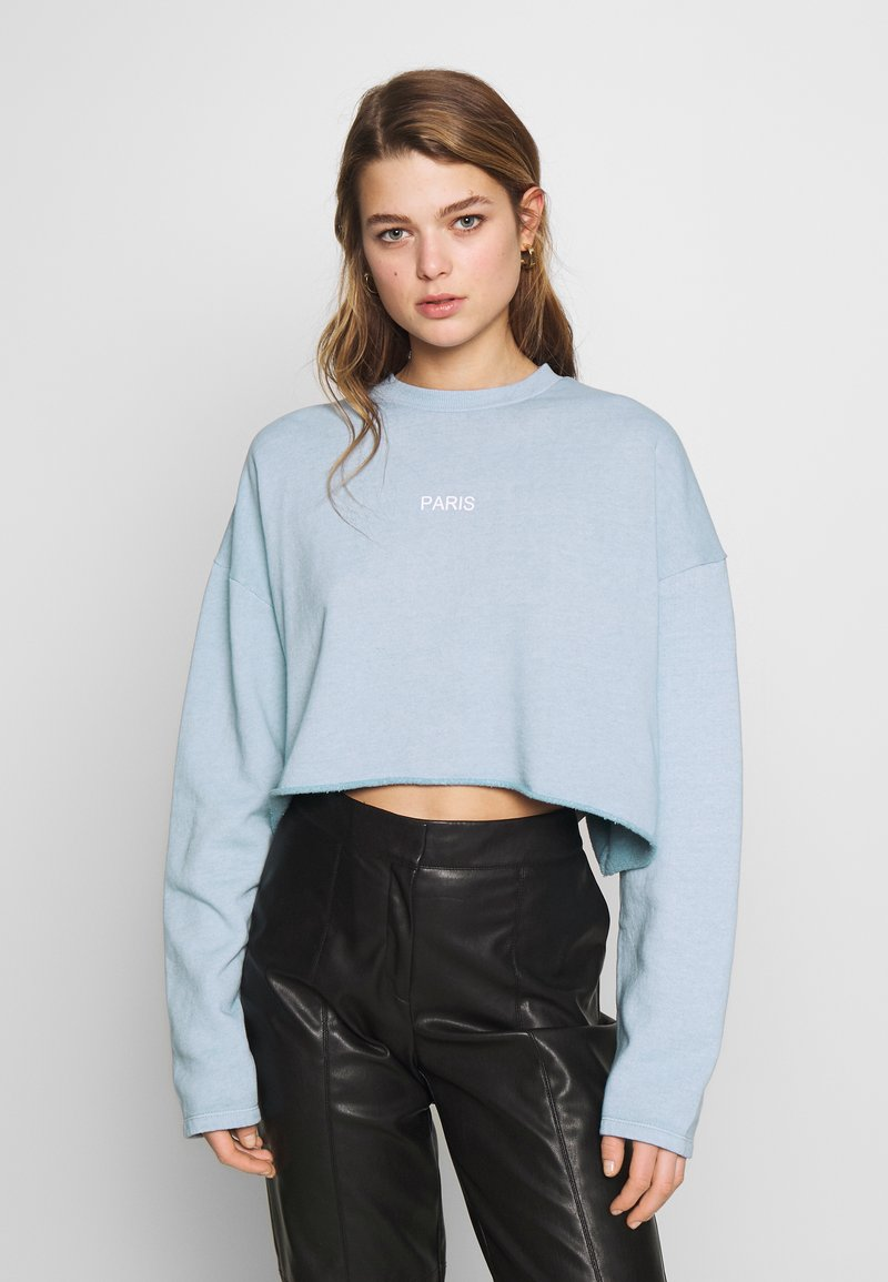 Topshop - PARIS RAW HEM - Sweatshirt - stone