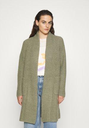 MALIA BEACH LONG CARDIGAN - Cardigan - frosty green
