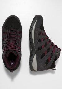 Columbia - REDMOND™ V2 MID WP - Hiking shoes - black, black cherry - 2