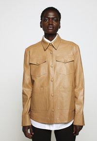 Rika - PARIS JACKET - Leather jacket - light brown - 0