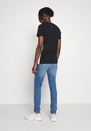 MID WASH RIP AND REP - Slim fit jeans - blue