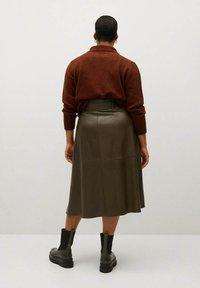 Violeta by Mango - OLIVE - Wrap skirt - olive - 2