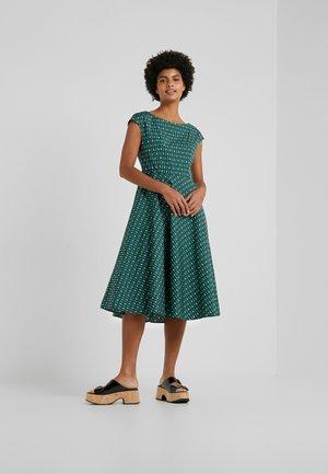 PIREO - Denní šaty - dark green/white/black