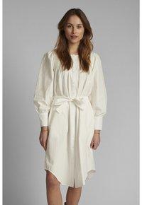 Nümph - NUSUMMER DRESS - Korte jurk - bright white - 0