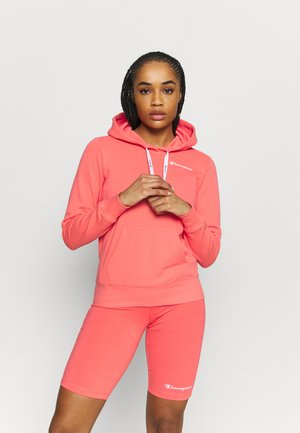 HOODED - Collegepaita - coral