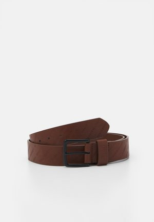 ALLOVER LOGO BELT - Bælter - cognacbrown