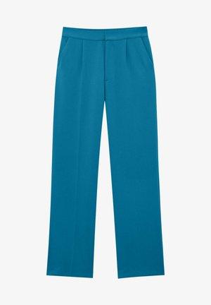 STRAIGHT-FIT MIT BUNDFALTEN - Kalhoty - blue