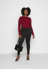 CAPSULE by Simply Be - SHAPE SCULPT SUPER STRETCH PONTE TREGGING - Trousers - black - 1