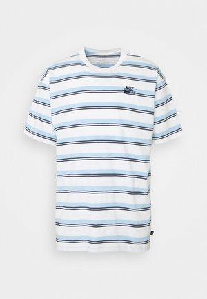 TEE STRIPE UNISEX - Print T-shirt - sail/mystic navy