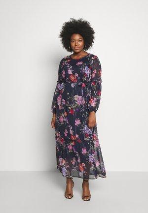 Maxi dress - dark blue/pink