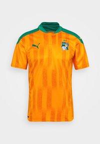 Puma - ELFENBEINKÜSTE FIF HOME SHIRT REPLICA - National team wear - flame orange/pepper green - 4