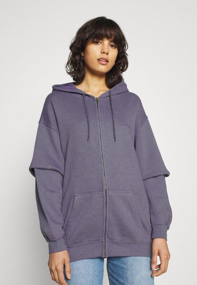ZIP THROUGH HOODIE - Zip-up hoodie - lilac
