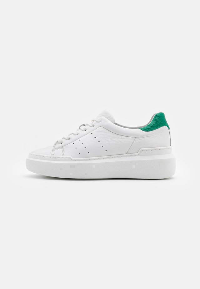 Sneakersy niskie - white/green