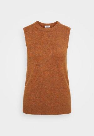 JDYELANOR VEST - Top - leather brown