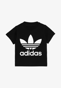 adidas Originals - TREFOIL UNISEX - T-shirt print - black/white - 2