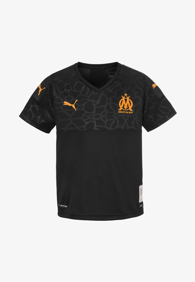 Puma - OLYMPIQUE DE MARSEILLE KIDS' THIRD REPLICA JONGEN - T-shirt print - black