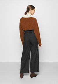 Monki - VERA TROUSERS - Trousers - black - 2
