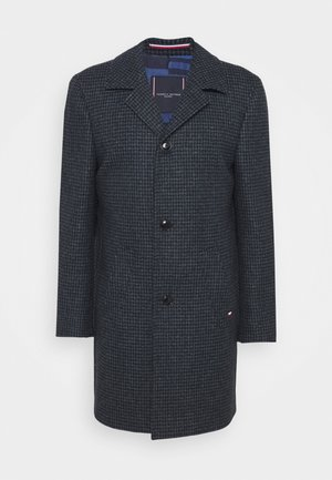 HOUNDSTOOTH DESIGN OVERCOAT - Manteau classique - blue