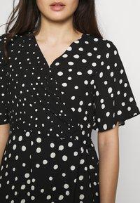 Dorothy Perkins Petite - MONO SPOT MIDI DRESS - Day dress - black - 4
