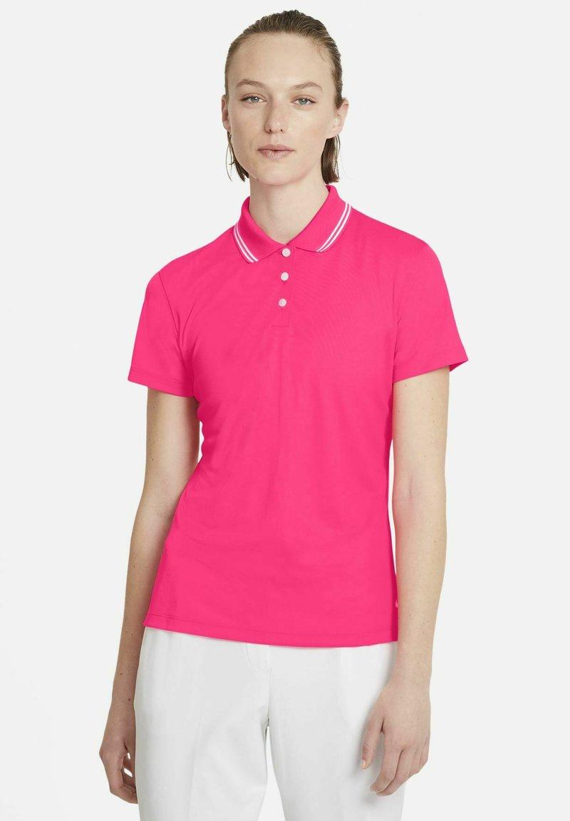 Nike Golf - DRY VICTORY - Sports shirt - hyper pink/white/white