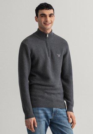 TRIANGLE HALF  - Stickad tröja - antracit melange