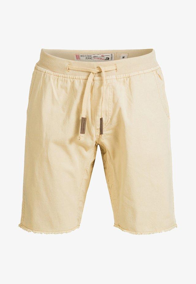 CARVER - Shorts vaqueros - beige
