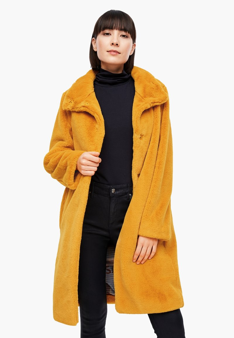s.Oliver - TEDDY - Winter coat - yellow