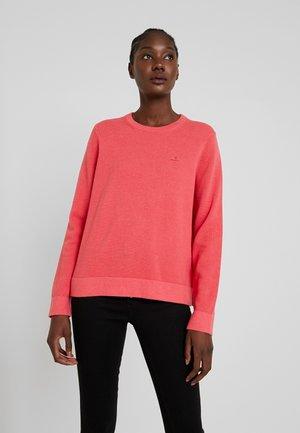 CREW - Jumper - dark pink melange
