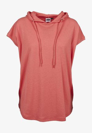 LADIES SLEEVELESS HOODY - Print T-shirt - coral