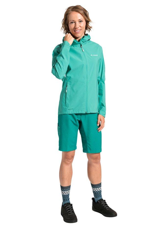 Waterproof jacket - peacock