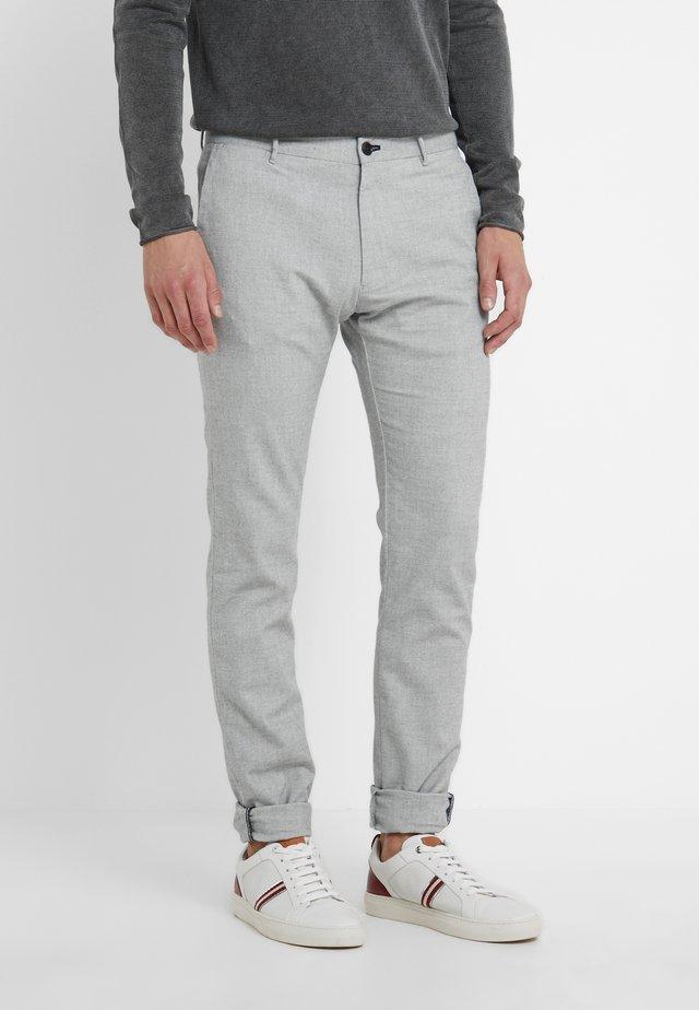 STEEN - Spodnie materiałowe - light grey melange