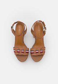 Tommy Hilfiger - INTERLACE - Platform sandals - summer cognac - 5