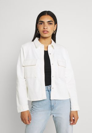 BOLD SHOULDER - Button-down blouse - white
