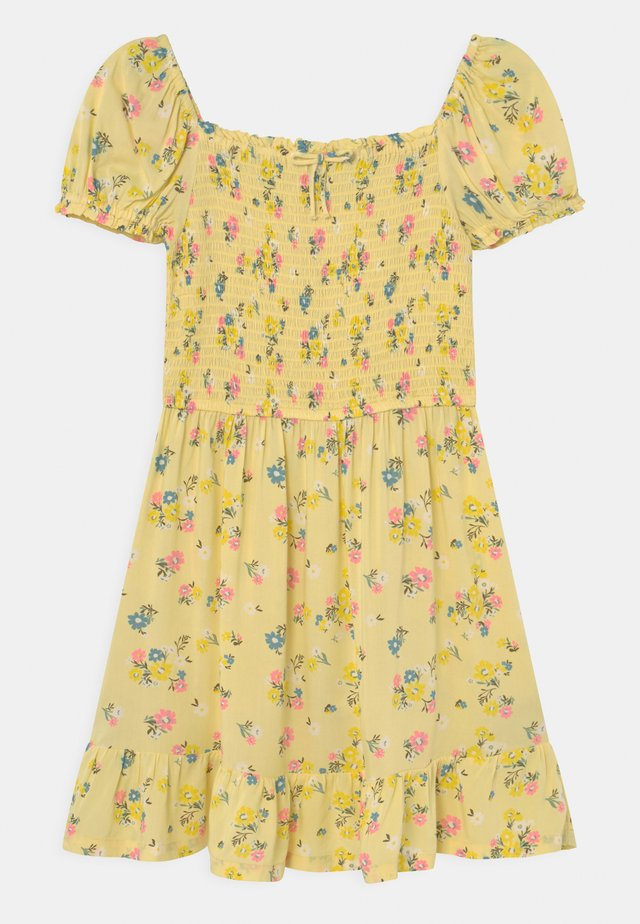 SHIRRED FLORAL - Denní šaty - yellow