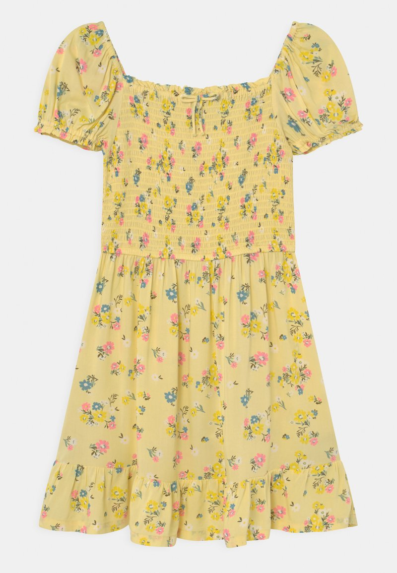 Marks & Spencer London - SHIRRED FLORAL - Day dress - yellow