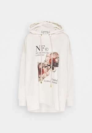 PRINTED HOODIE WITH THICK - Hoodie - oatmeal