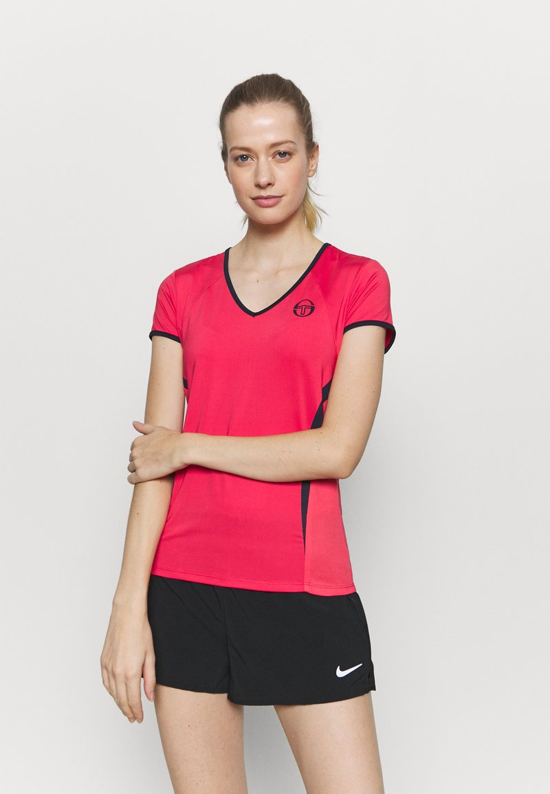 sergio tacchini - EVA  - Sports shirt - rougered/navy