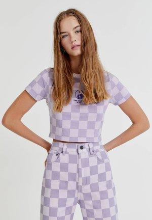 SCHACHBRETTMUSTER YIN YANG - Print T-shirt - mottled lilac