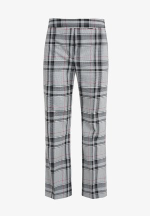 PLAID TOPSTITCH SEAMLINE PANT - Pantalon classique - white/navy/hot pink