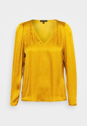 PUFF SLEEVE SOFT - Blouse - dark yellow